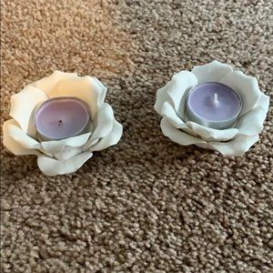 Kate Aspen-Rose tea light holders and candles